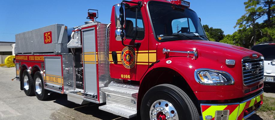 Used Trucks Jacksonville Fl >> Ten 8 Fire Equipment Pierce Saber Tanker delivered to ...